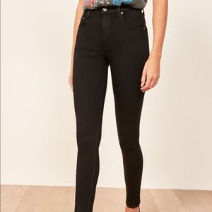 Reformation Jeans - Reformation High & Skinny Jean (Black)